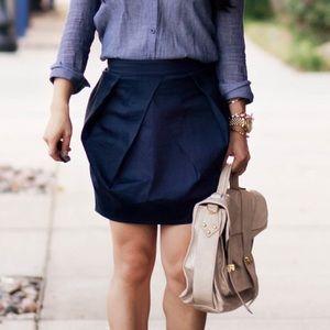 J.Crew Women's Navy Lunette Mini Skirt Size 4